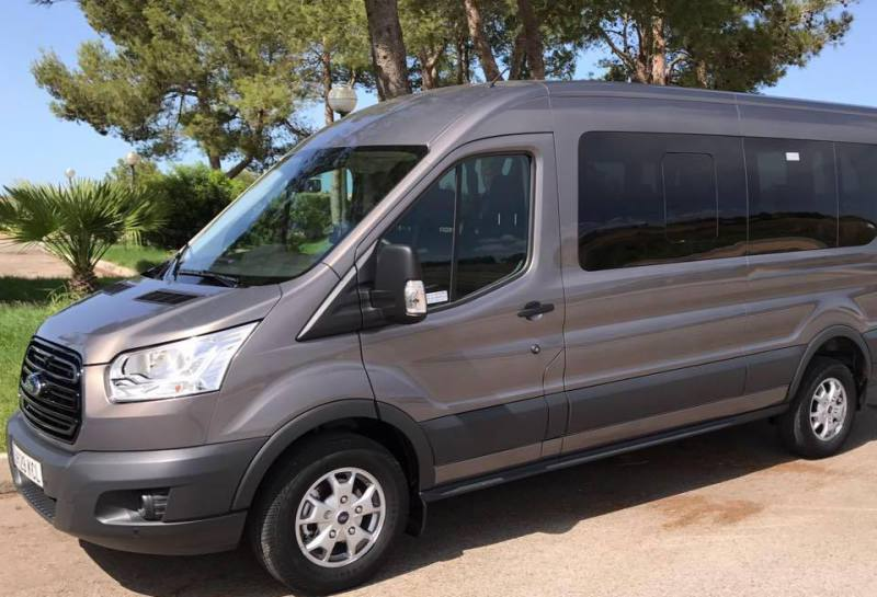 Hire private minibus in Cala Egos